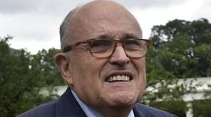 Rudy Giuliani outside the White House in Washington