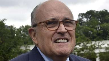 Rudy Giuliani outside the White House in Washington