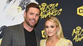 Singer Carrie Underwood and husband, NHL player Mike