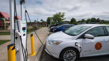 Brookhaven opened a charging station for electric vehicles