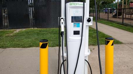 Electric vehicle charging stations were installed at Heritage