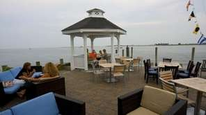 Diners on the outdoor patio of View restaurant