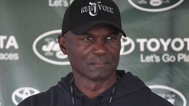 Coach Todd Bowles talks to the media Tuesday