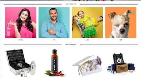 A screen image shows the new shopping website