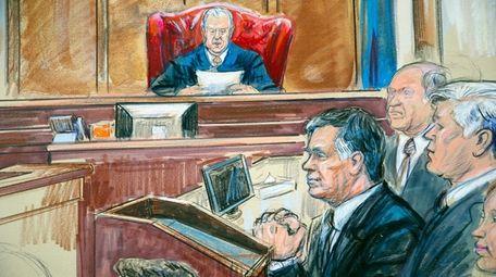 Paul Manafort listens to U.S. District Court Judge