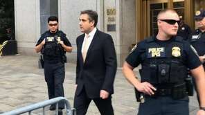 President Donald Trump's embattled former lawyer Michael Cohen,