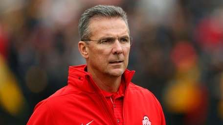 Ohio State head coach Urban Meyer before a
