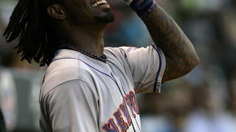 New York Mets' short stop Jose Reyes smiles