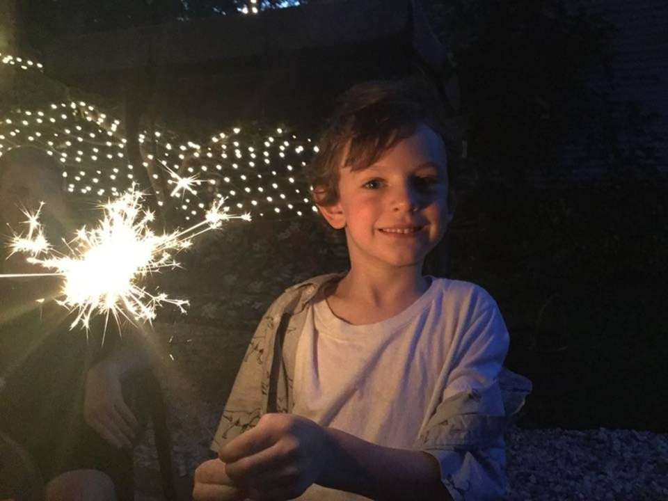 Liam Mortensen celebrating the summer! July 4th, 2018
