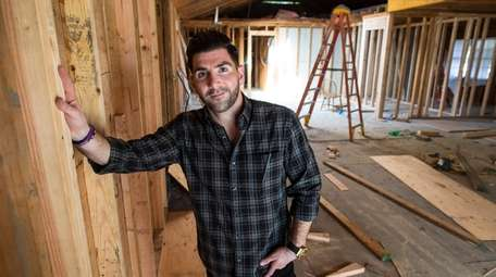 Gino Marino at a home in Dix Hills