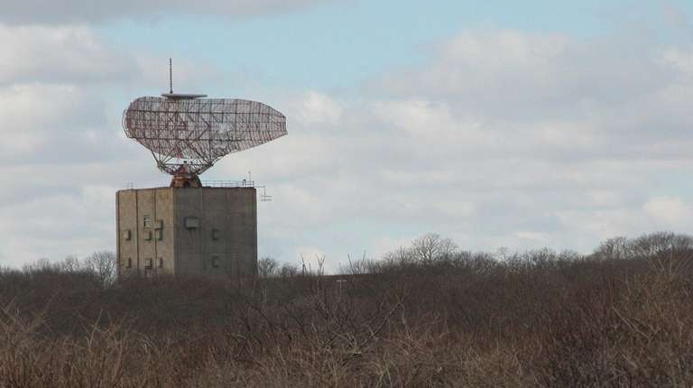 The radar tower at Camp Hero State Park