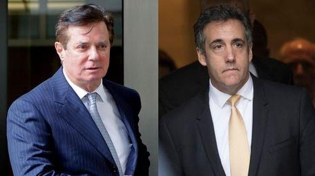 Paul Manafort, left, and Michael Cohen.
