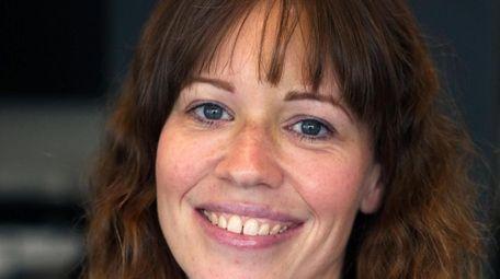 BEFORE: Arts teacher Jennifer Lahovitch of Sound Beach.