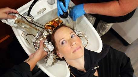 Jennifer Lahovitch of Sound Beach gets a hair