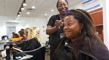 Tiffany Jackson of Freeport gets a new look