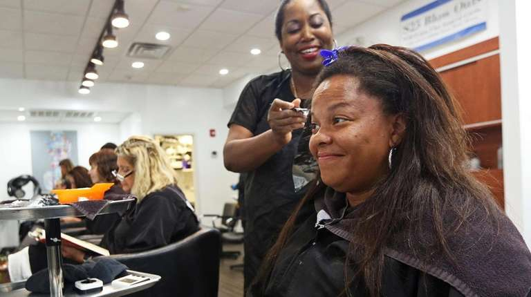 Tiffany Jackson of Freeport gets a new look
