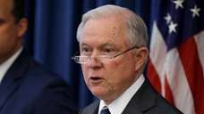 U.S. Attorney General Jeff Sessions speaks during a