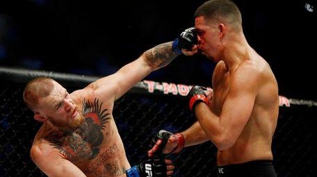 Conor McGregor vs. Nate Diaz at UFC 202.