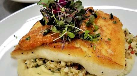 Pan-roasted halibut with parsnip puree was one of