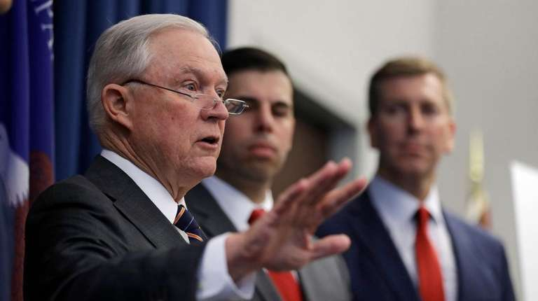 U.S. Attorney General Jeff Sessions said on Thursday
