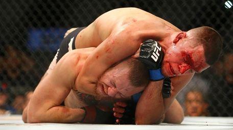 Conor McGregor vs. Nate Diaz at UFC 196.