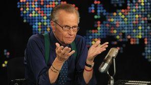 Larry King speaks during Larry King Live: Disaster