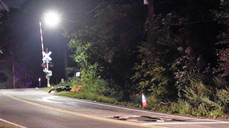 A motorcyclist crashed on Smith Road in Shirley