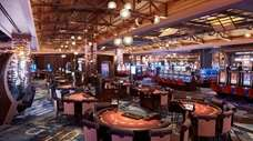 The casino at the MGM Springfield in Massachusetts,