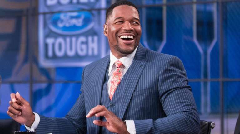 Michael Strahan on the Fox NFL Sunday set.