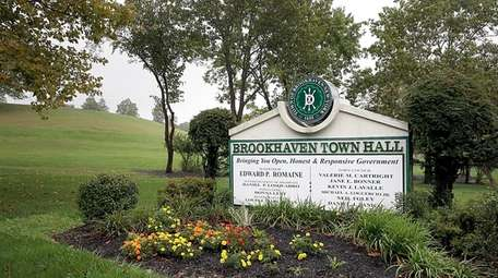 The site of Brookhaven Town Hall in Farmingville.