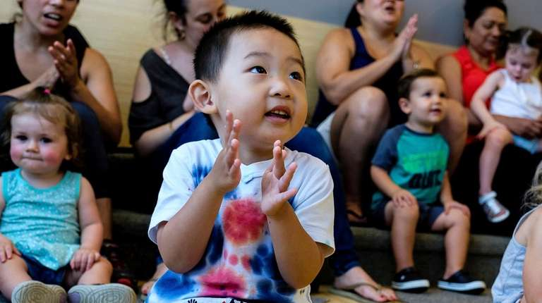 Remi Sun, 3, of Manhasset, attends Sing and