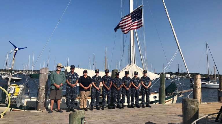 From left, Capt. Roger Noakes, Sea Cadet officials