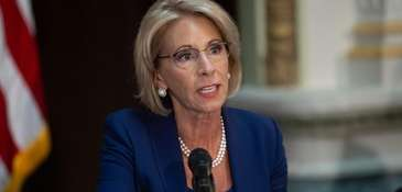Secretary of Education Betsy DeVos proposes to buy