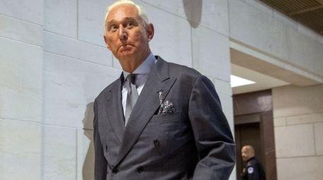 Longtime Donald Trump associate Roger Stone arrives to