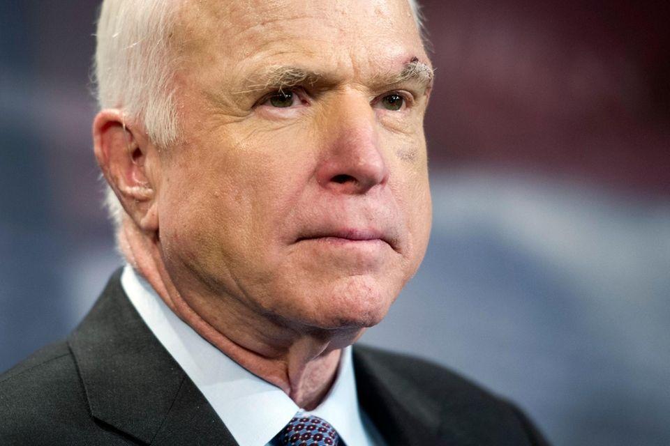 Sen. John McCain (R-Ariz.) on July 27, 2017,