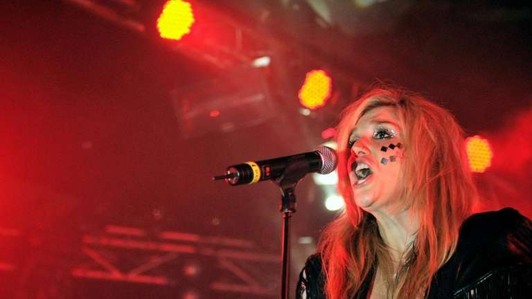 Singer Kesha performs on stage at the Penelope