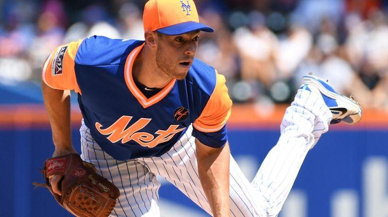 Mets starting pitcher Steven Matz watches his pitch