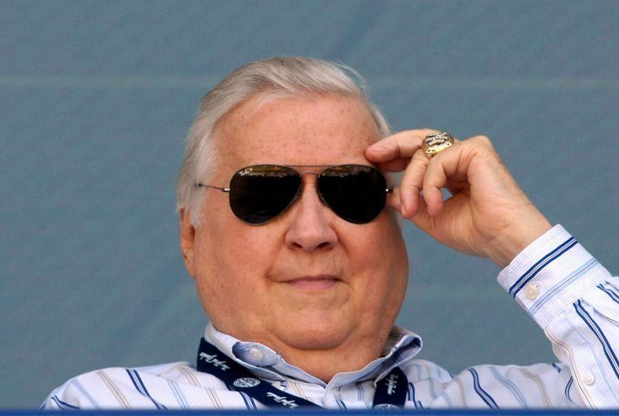 New York Yankees owner George Steinbrenner, seen here