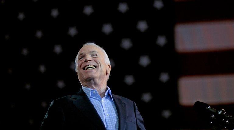 Then-Republican presidential nominee Sen. John McCain (R-Ariz.) is
