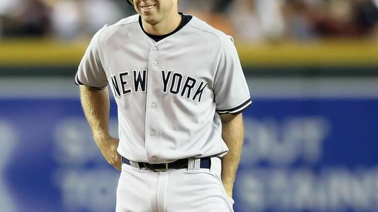 Colin Curtis #27 of the New York Yankees