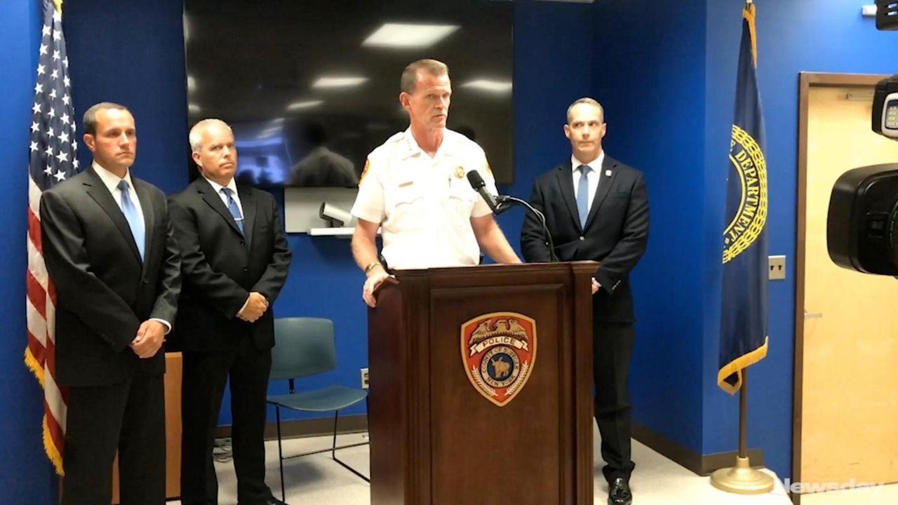 Suffolk County Police Chief Stuart Cameronon Monday discusses