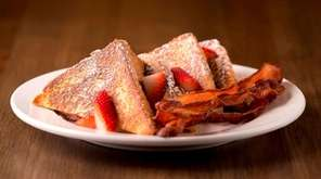 Stuffed French toast is a specialty of Famous