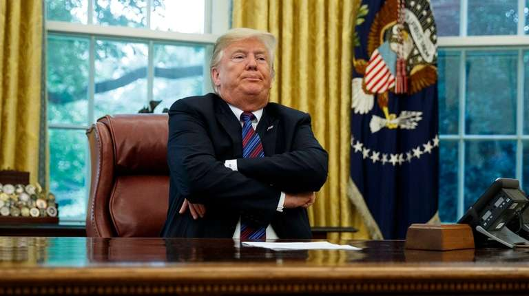 President Donald Trump in the Oval Office on
