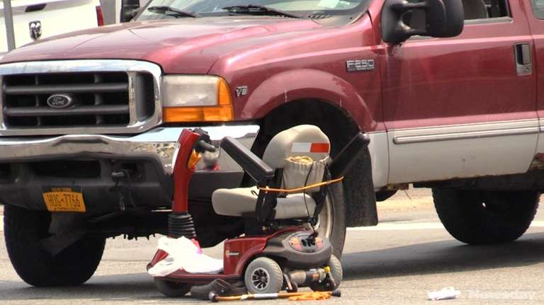 On Monday, a man in a motorized wheelchair