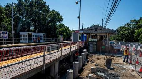 The LIRR stationhouse in Brentwood is getting a