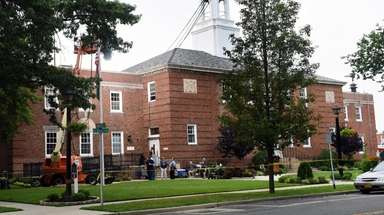 Village Hall in Floral Park is seen on