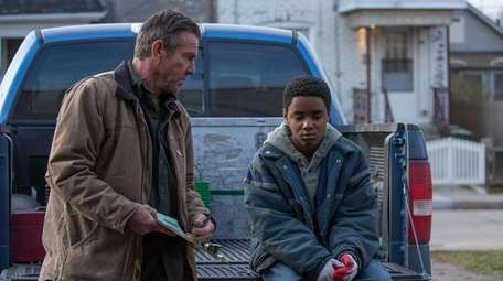 """Dennis Quaid and young Myles Truitt in """"Kin."""""""