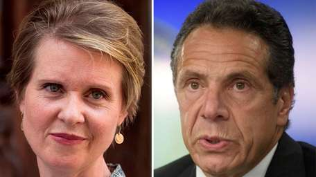 New York Democratic gubernatorial candidates Cynthia Nixon and