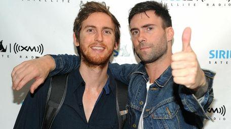 Jesse Carmichael, left, and Adam Levine of Maroon