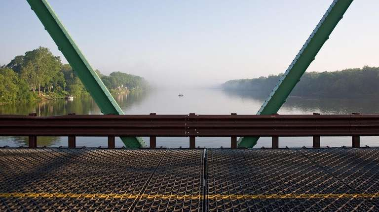This bridge in New Hope, Pennsylvania, overlooks the